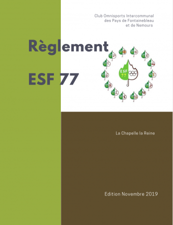 Règlement de l'ESF77 édition 2019