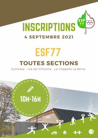 Inscriptions esf77 2
